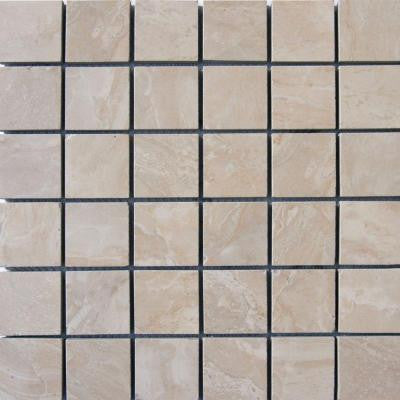 Onyx Crystal 12 in. x 12 in. x 10 mm Porcelain Mesh-Mounted Mosaic Floor and Wall Tile
