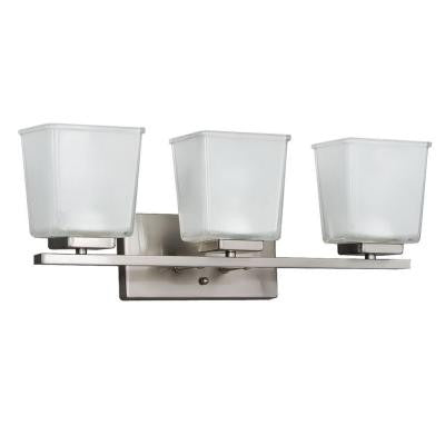3-Light Brushed Nickel Vanity Wall Fixture