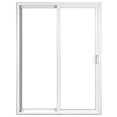72 in. x 80 in. 50 Series Left-Hand Assembled Gliding Patio Door, 6/0 LOEA White Vinyl