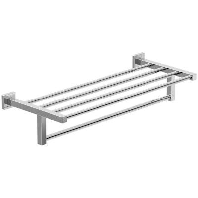 Duro 22 in. W Towel Shelf with Bar in Chrome