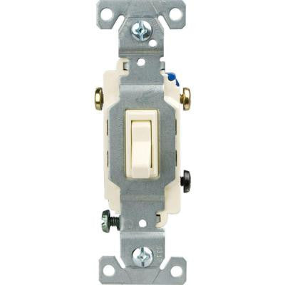 15 Amp 3-Way Light Grounding Switch -Light Almond