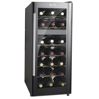 13-1/2 in. 21-Bottle Thermoelectric Wine Cooler with Dual Zone and Heating
