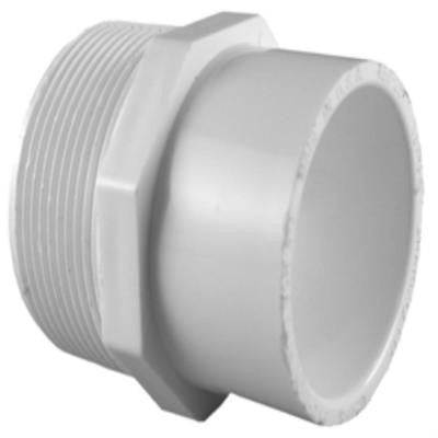 3/4 in. x 1 in. PVC Sch. 40 MPT x S Reducer Male Adapter