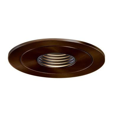 4 in. Tuscan Bronze Recessed Lighting Low-Voltage Pinhole Trim with Black Baffle