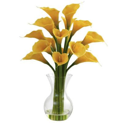 Galla Calla Lily with Vase Arrangement in Yellow