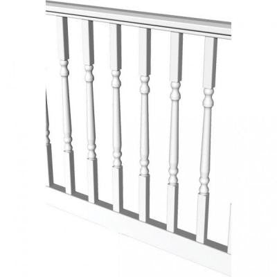 Original Rail 6 ft. x 36 in. White Turned Baluster Level Rail Kit