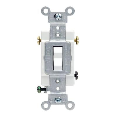 20 Amp 3-Way Commercial Toggle Switch - White