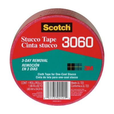 Scotch 1.88 in. x 60 yds. Red Poly Contractors Stucco Tape (Case of 12)