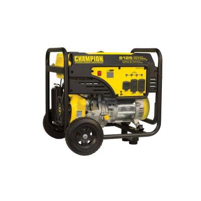 6500-Watt Gasoline Powered Manual Start Generator with 389cc OHV Engine and Wheel Kit
