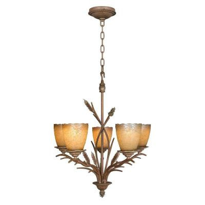 Lodge 5-Light Weathered Spruce Chandelier