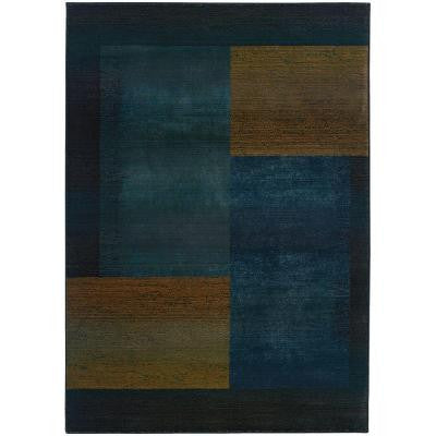 Shadowplay Blue 7 ft. 10 in. x 11 ft. 2 in. Area Rug