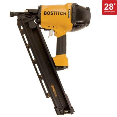 28 Degree 2 in. - 3-1/2 in. Wire Weld Framing Nailer