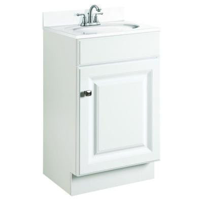 Wyndham 18 in. W x 16 in. D Unassembled Vanity Cabinet Only in White Semi-Gloss