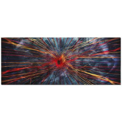 Brevium 19 in. x 48 in. Implosion Metal Wall Art