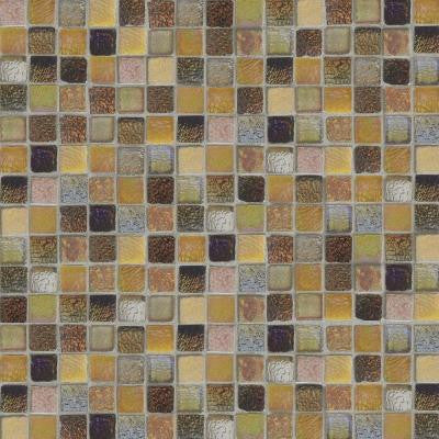 Bountiful Cut-Edge 12 in. x 12 in. x 6 mm Glass Slate Mosaic Tile