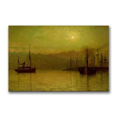 22 in. x 32 in. Calm Waters, Scarborough Canvas Art