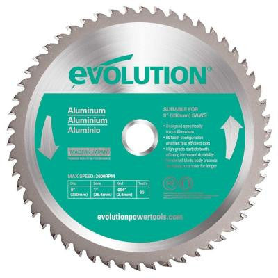9 in. 80-Teeth Aluminum Cutting Saw Blade