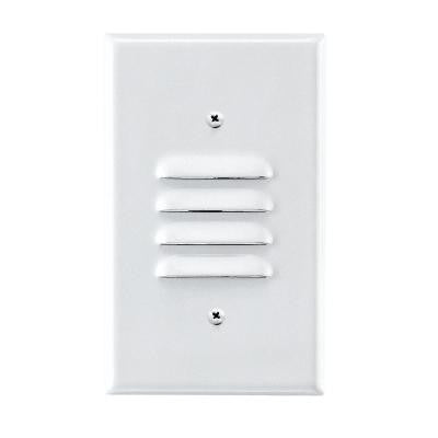1-Light 4.5 in. White Recessed Step Light