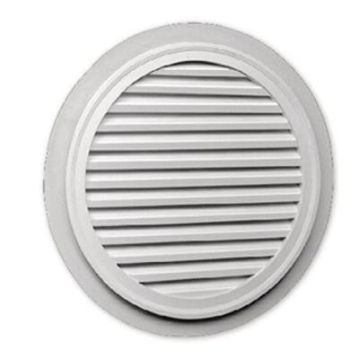 32 in. x 1-5/8 in. Polyurethane Decorative Round Louver with Flat Trim