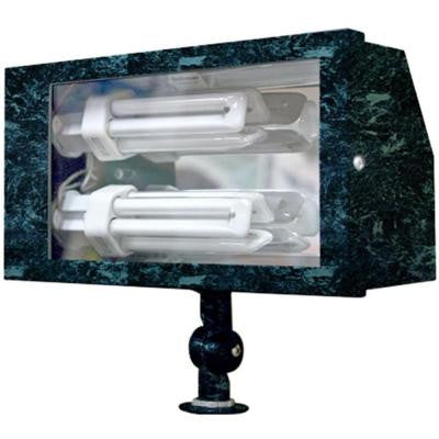 Adrien 2-Light Verde Green Outdoor Flood Light