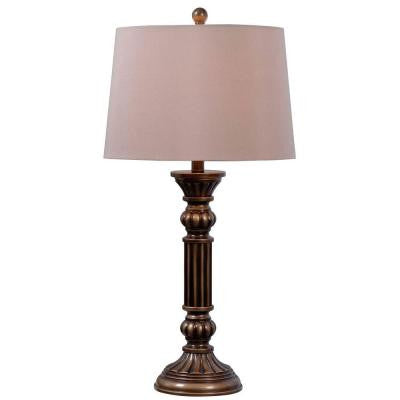 Reese 30 in. Aged Golden Bronze Table Lamp (2-Pack)