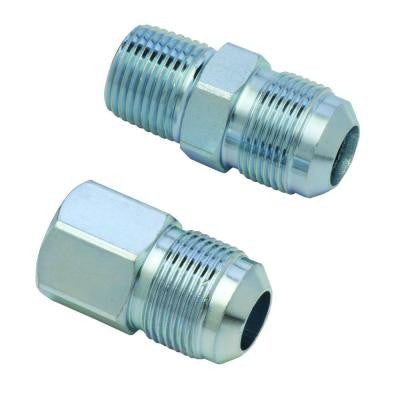 5/8 in. O.D. Flare (15/16-16 Thread) Steel Gas Fitting Kit with 1/2 in. FIP and 1/2 in. MIP Connections