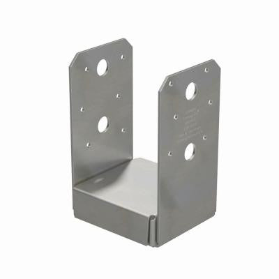 4 in. x 4 in. 16-Gauge Stainless Steel Adjustable Post Base