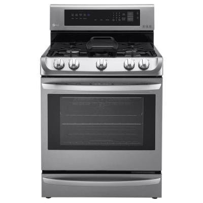 6.3 cu. ft. Gas Single Oven Range with ProBake Convection in Stainless Steel