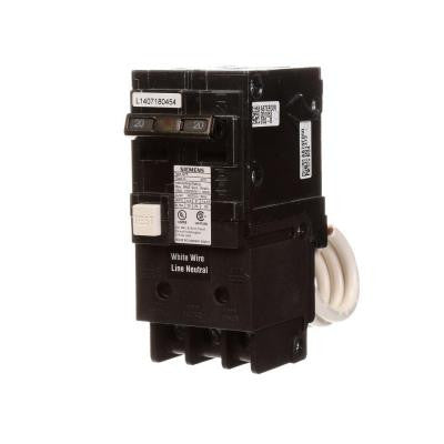 20-Amp Double-Pole Type QPF GFCI Circuit Breaker