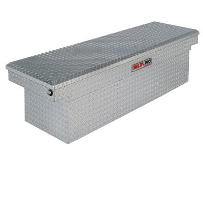Delta Pro 71 in. Aluminum Single Lid Super Deep Full Size Crossover Tool Box in Bright