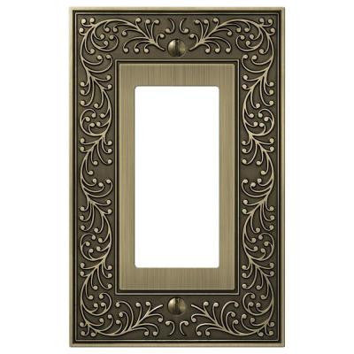 English Garden 1 Decora Wall Plate - Brass