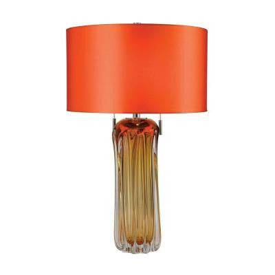 Ferrara 25 in. Amber Table Lamp with Shade
