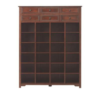Oxford Chestnut Shoe Storage Cabinet with 2-Layer Drawer