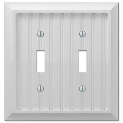 Cottage 2 Toggle Wall Plate - White