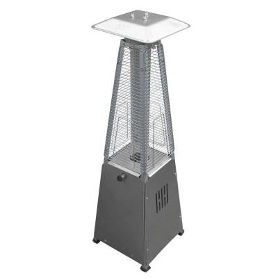 10,000 BTU Portable Stainless Steel Glass Tube Gas Patio Heater