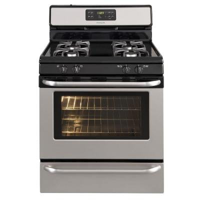 5 cu. ft. Gas Range with Self-Cleaning Oven in Stainless Steel
