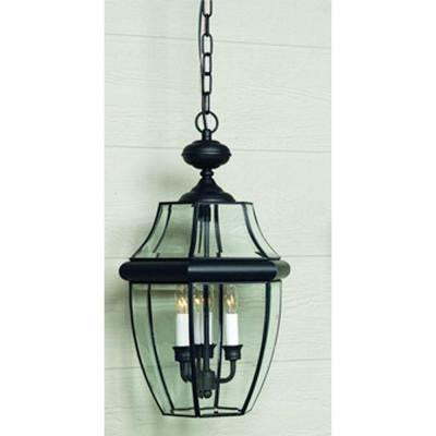 Newbury 2-Light Mystic Black Outdoor Hanging Lantern