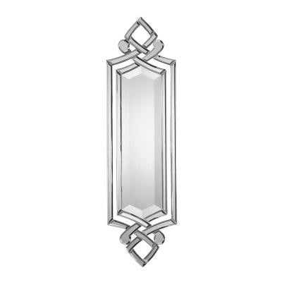 36 in. x 10 in. Polished Edge Ornate Beveled Mirror