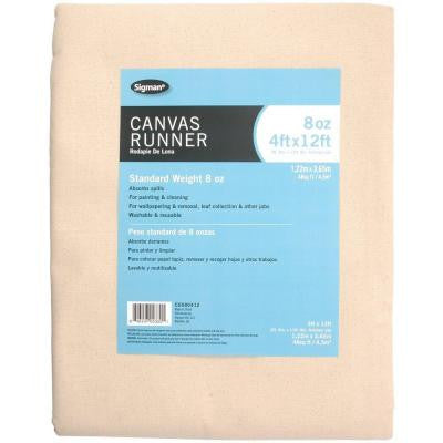 3 ft. 9 in. x 11 ft. 9 in., 8 oz. Canvas Drop Cloth Runner