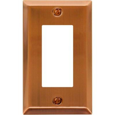 Century Steel 1 Decora Wall Plate- Antique Copper
