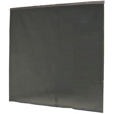 120 in. x 96 in. Garage Black Screen Door