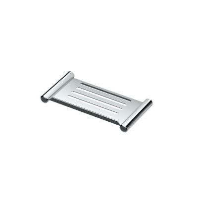 10 in. W Elegant Shower Shelf in Chrome