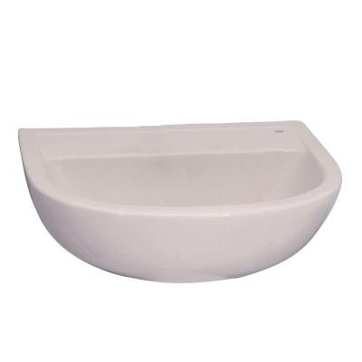 Compact Wall-Mounted Bathroom Sink in White
