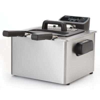 4.0 Qt. Digital Dual Basket Deep Fryer in Stainless Steel