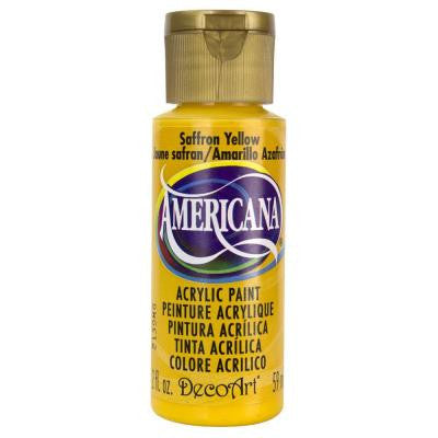 Americana 2 oz. Saffron Yellow Acrylic Paint