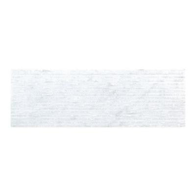 Snow Cap 4 in. x 12 in. Marble Field Wall Tile