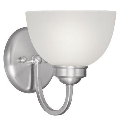 Providence 1-Light Brushed Nickel Incandescent Bath Vanity Light