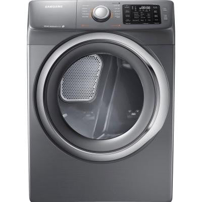 7.5 cu. ft. Electric Dryer with Steam in Platinum