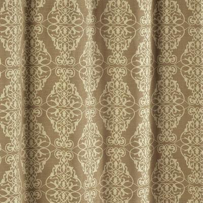 Adisson Printed Cotton Blend 72 in. W x 72 in. L Soft Fabric Shower Curtain Taupe