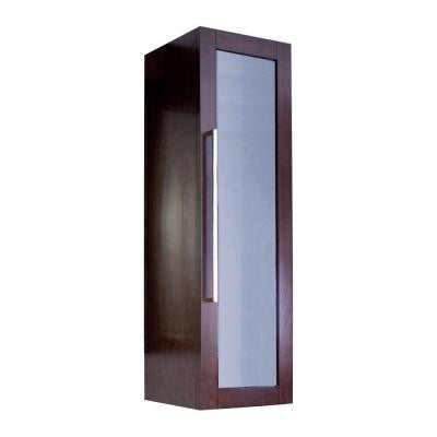 14-in. W x 44.75-in. H Transitional Birch Wood-Veneer Wall Curio In Walnut